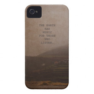 Inspirational Quotes Nature Photo Music Quote iPhone 4 Case-Mate Case