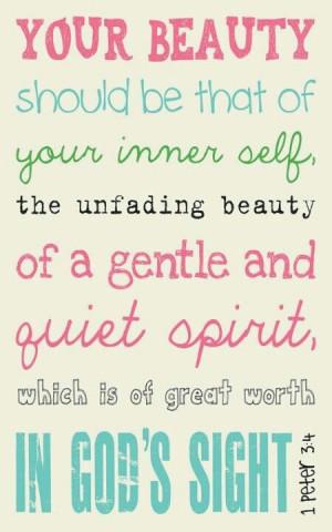 Inner beauty ~1Peter 3:4