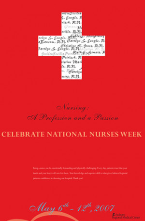 ... nurses month of course this poster celebrates nursing as a profession