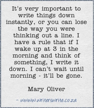 Mary Oliver Quote from Writers Write, this is so true I've lost many ...
