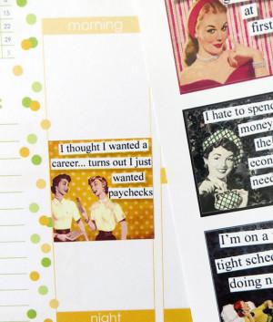 12 Sassy Ladies Quote Stickers for Erin Condren Planner, Filofax, Plum ...