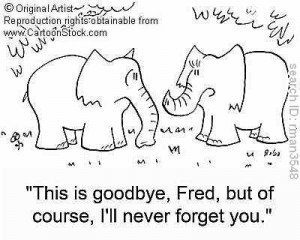 saying good-bye