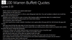 100 Warren Buffett Quotes