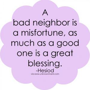 Bad Neighbor (Open Letter)