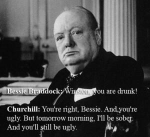 Winston Churchill Vs. Bessie Braddock