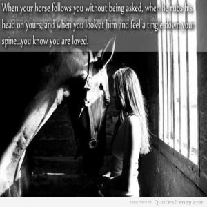 Blackandwhite Girl Horse...
