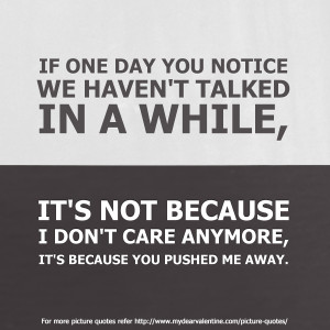 Love hurts quotes - If one day you notice