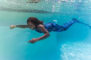 Arctic Blue Fin Fun Mermaid Tail