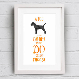 homepage > WELL BRED DESIGN > A DOG IS FAMILY QUOTE PRINT