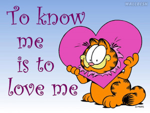 Papel de parede Garfield com um coração na cabeça, fotos grátis ...