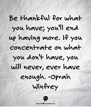 Quote about thankfulness and gratitude. Ten Things of Thankful (TToT ...