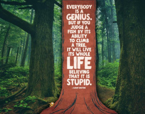 Everybody Is A Genius Einstein Quote