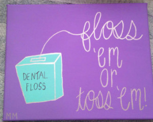 Dental Hygienist Canvas Painting with Quote