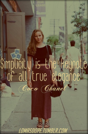Coco chanel, quotes, sayings, simplicity, fashion, elegance