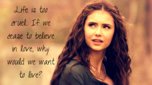 The Vampire Diaries TV Show TVD quote