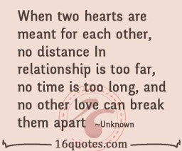 Unknown Long Distance Relationship , Respect ,