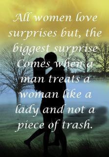 All women love surprises