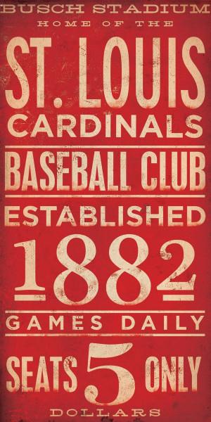 St Louis Cardinals Sign Vintage