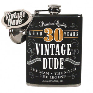 30 Year Old Fine Aged Birthday Gift Flask