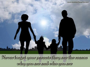 Parents Quotes-Thoughts-Mother-Father-Never forget your parents