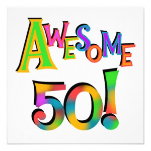 Awesome 50 Birthday T-shirts and Gifts Personalized Invites from ...