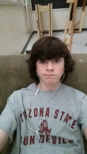 Chandler Riggs Selfie Chandler posted on Ask fm today