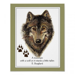 wolf quotes about strength Original Watercolor Wolf, Tracks Mountain ...