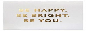 Bright Gold Happy Quote Facebook Covers