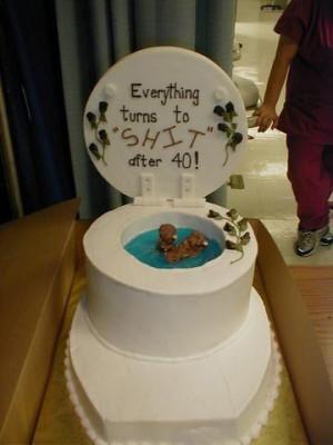 funny rude happy 40th birthday cakes