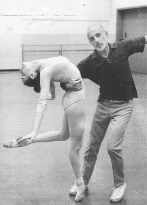 Choreographer Jerome Robbins rehearses dancers at New York State ...