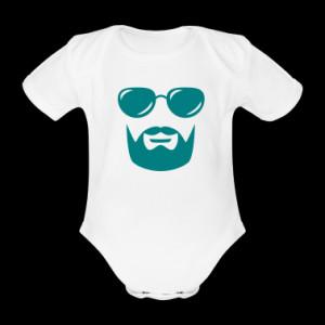 sunglasses mustache and beard Baby One Piece