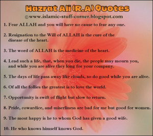 golden quotes sayings of hazrat ali r a