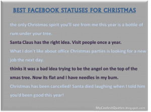 Christmas Facebook Funny Statuses