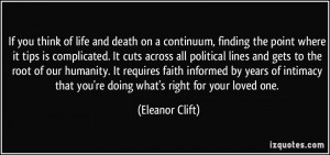 More Eleanor Clift Quotes
