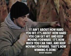 Winning quotes, best, motivational, sayings, rocky balboa