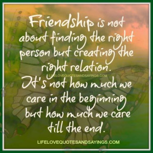 is not about finding the right person but creating the right ...