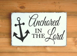 ... Christian Gift Wall Art Anchor Bible Verse Scripture Quote Christmas