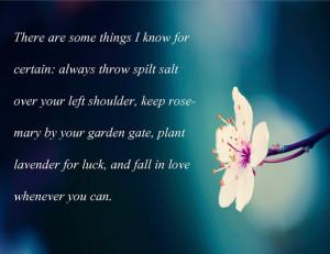 Practical Magic quote. loveeee