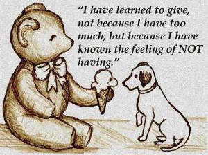 The feeling of not having...