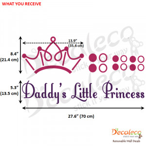 ... wall decal quotes prince daddy girls room princess nursery Pictures