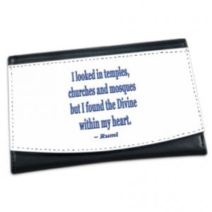 ... > Divine Wallets > Divine within my heart - Rumi Quote Mini Wallet