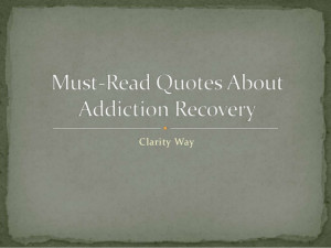 Quotes About Recovery From Addiction Quotes on addiction recovery