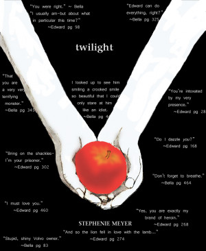 Twilight cover-with quotes by Miyu-Mira