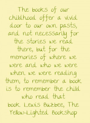 The books of our childhood offer a vivid door to...