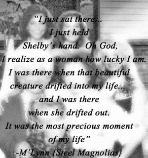 Steel Magnolias named by first daughter shelbie after Shelby. Her ...