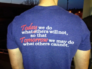 ... not sure it is true. We do what others will not because it feels good