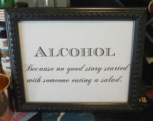 20's Alcohol Sign - Wedding, Reception, Roaring Twenties, Great Gatsby ...