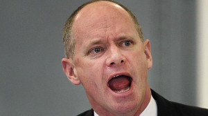 Campbell Newman makes his point in Parliament. Pic Jono Searle. Source ...