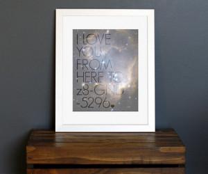 Science Geek Love Quote Art Print - celestial, galaxy, stars ...
