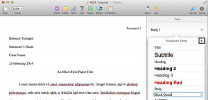 Press the Plus button to create a new Paragraph Style.